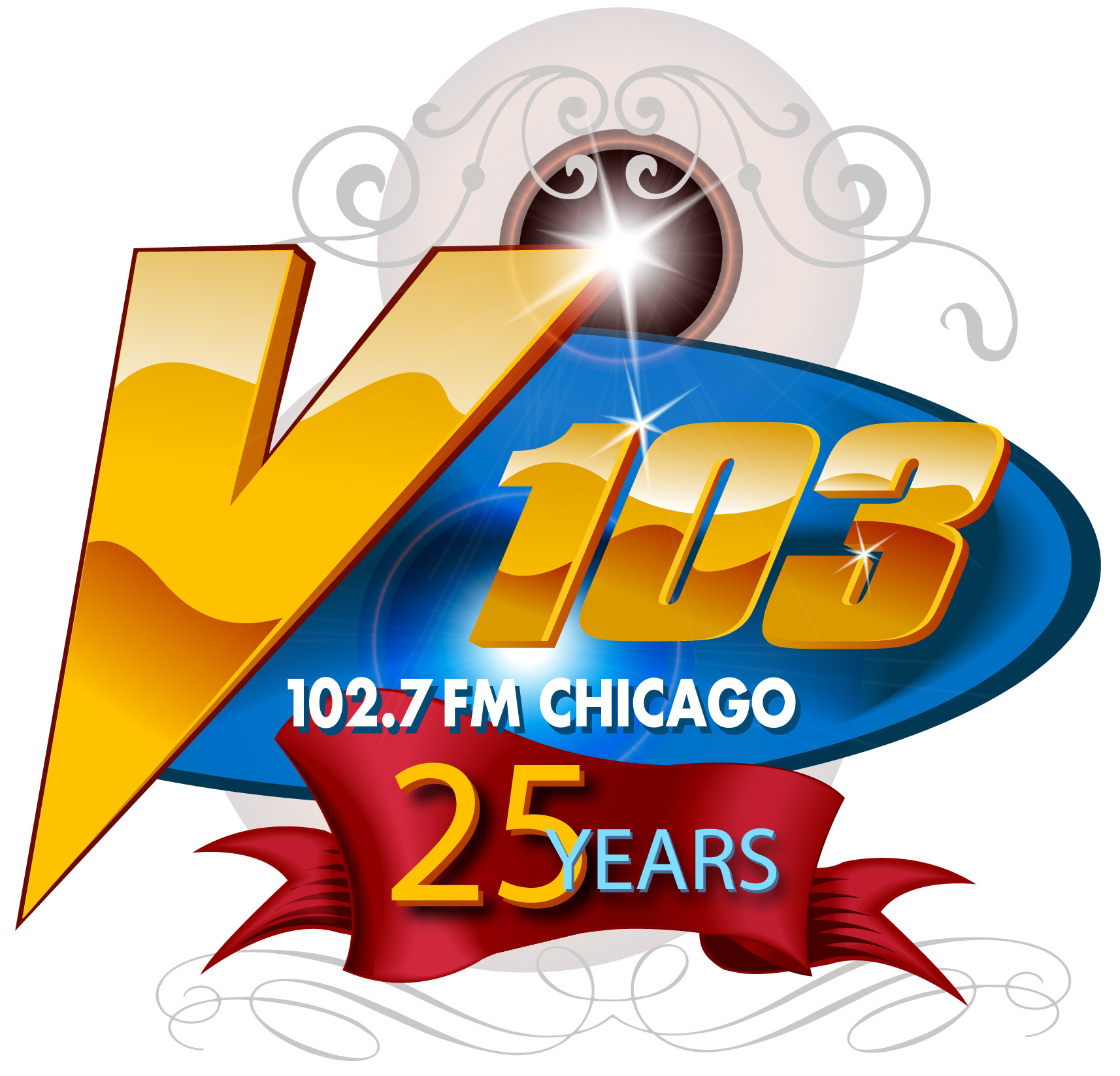 V103 25th Anniversary logo