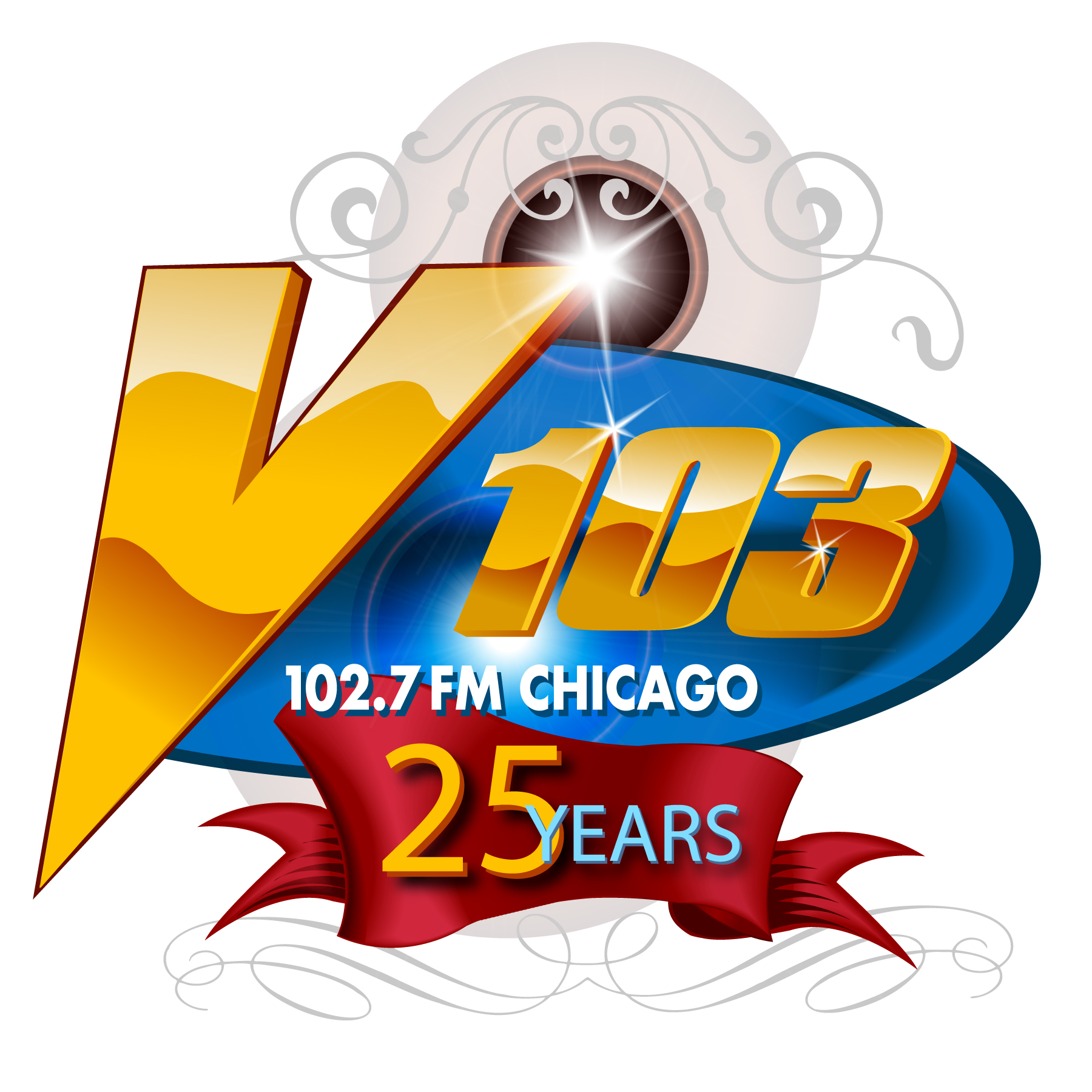 V103 25th Anniversary logo